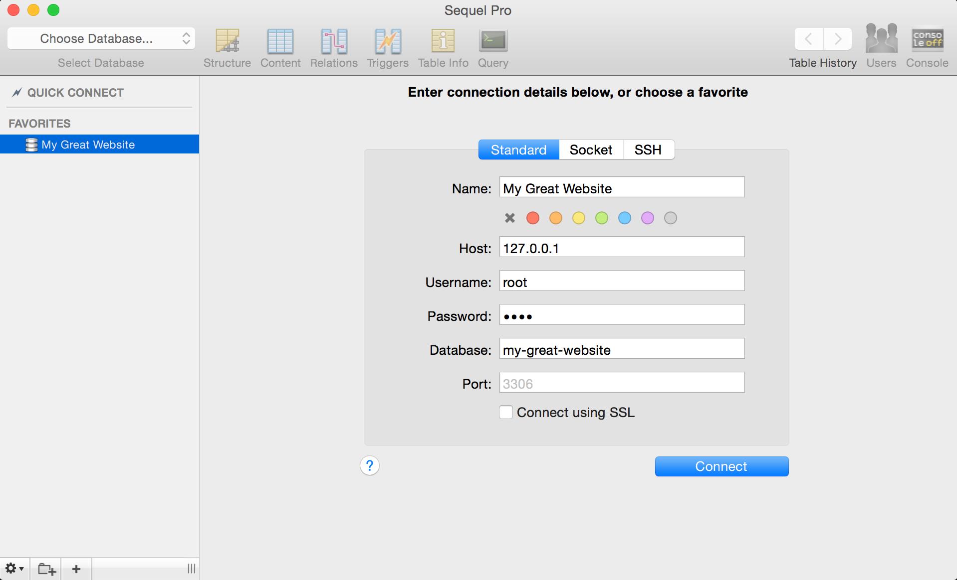 Sequel Pro - 开源免费的 macOS 平台 MySQL/MariaDB GUI 管理工具