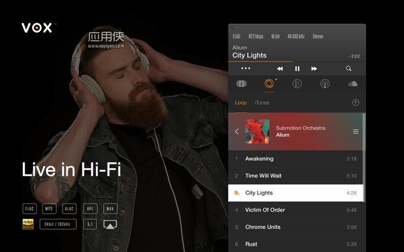 VOX - 用于 mac 和 iPhone 的无损音乐播放器