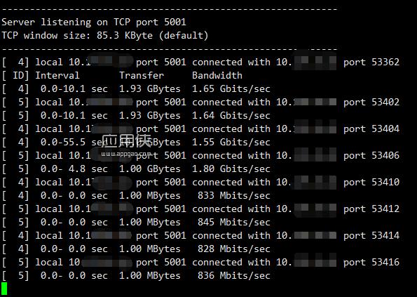 iperf - 服务器间带宽质量测试工具