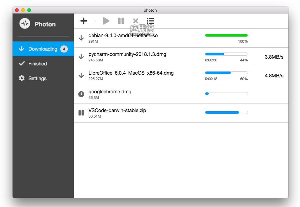 Photon – 基于 aria2 的多线程「图形界面」下载工具