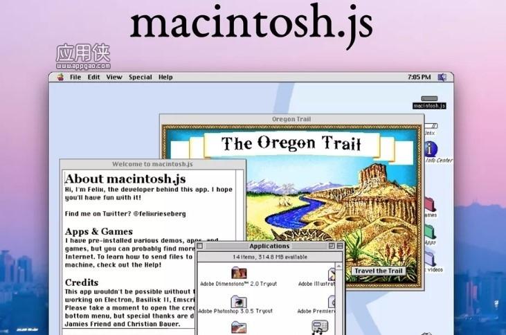 Mac OS 8 被打包成应用程序,可在 Windows 和 Linux 上安装