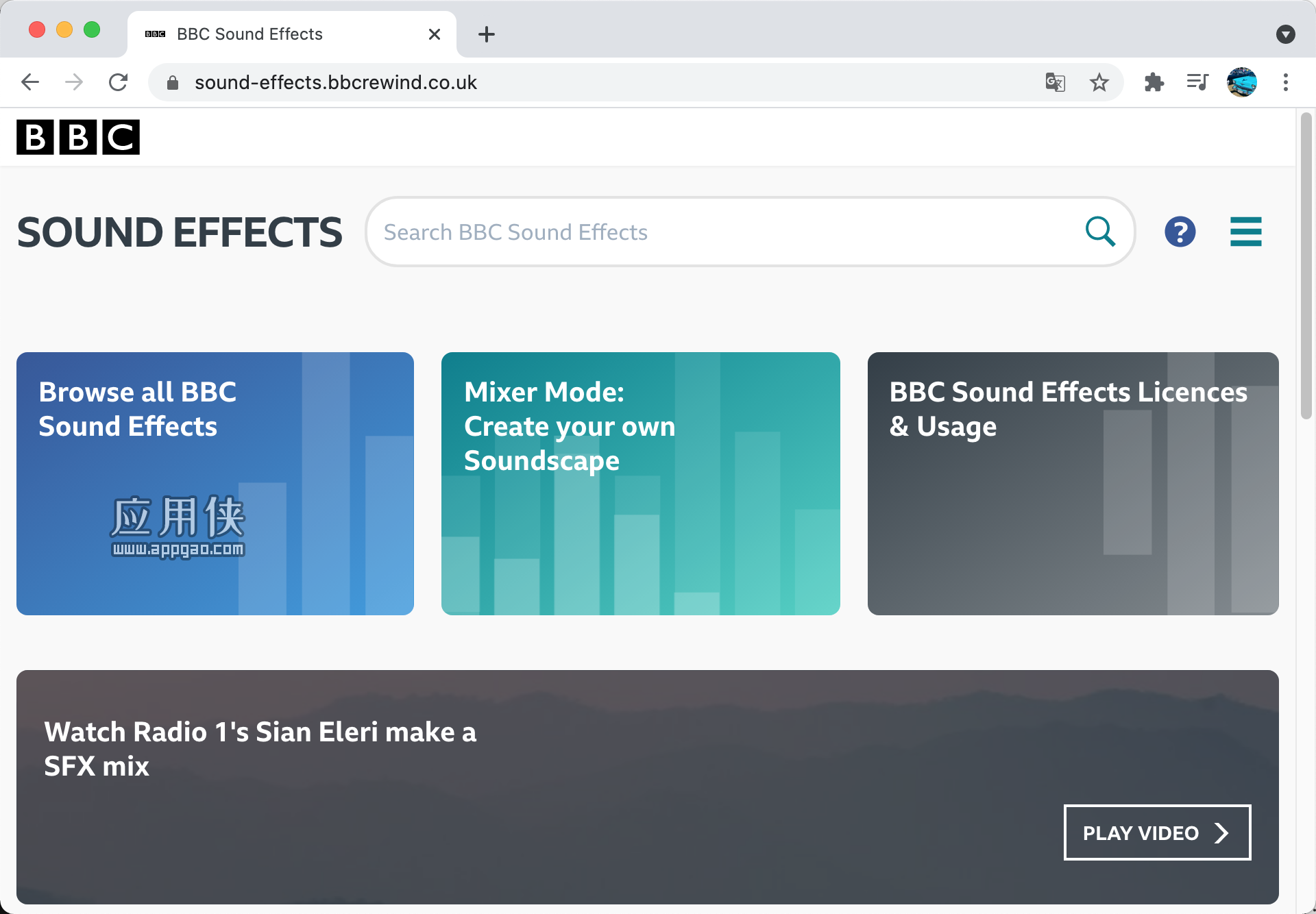 BBC Sound Effects - BBC 官方资源上万个音效素材免费下载